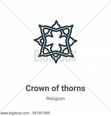 Crown of thorns icon isolated on white background from religion collection. Crown of thorns icon tre