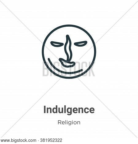 Indulgence icon isolated on white background from religion collection. Indulgence icon trendy and mo
