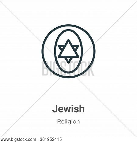 Jewish icon isolated on white background from religion collection. Jewish icon trendy and modern Jew