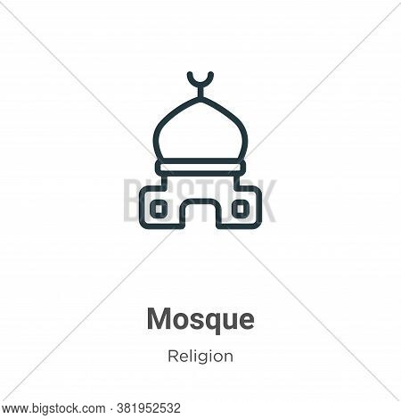 Mosque icon isolated on white background from religion collection. Mosque icon trendy and modern Mos