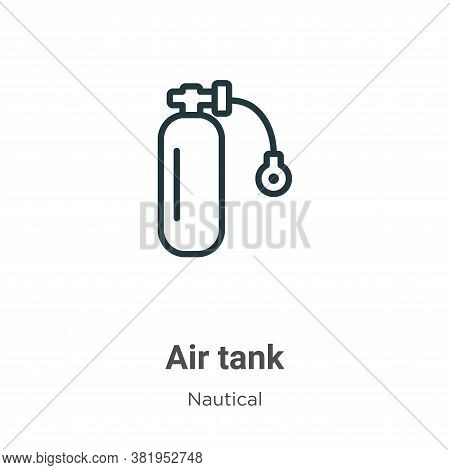 Air tank icon isolated on white background from nautical collection. Air tank icon trendy and modern