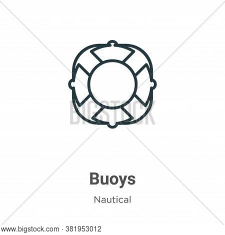 Buoys icon isolated on white background from nautical collection. Buoys icon trendy and modern Buoys