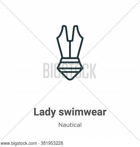 Lady swimwear icon isolated on white background from nautical collection. Lady swimwear icon trendy