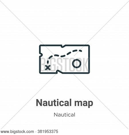 Nautical Map Icon From Nautical Collection Isolated On White Background.