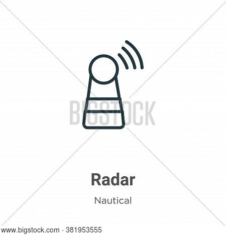Radar icon isolated on white background from nautical collection. Radar icon trendy and modern Radar