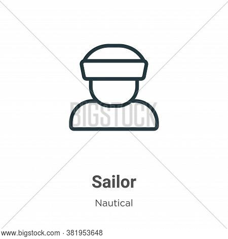 Sailor icon isolated on white background from nautical collection. Sailor icon trendy and modern Sai