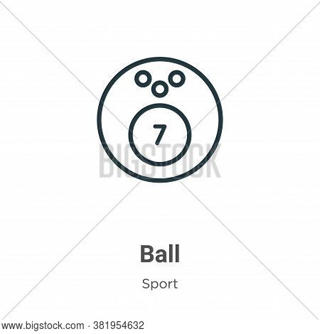 Ball icon isolated on white background from sport collection. Ball icon trendy and modern Ball symbo