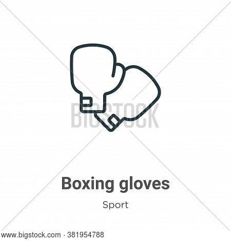 Boxing gloves icon isolated on white background from sport collection. Boxing gloves icon trendy and
