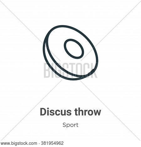 Discus throw icon isolated on white background from sport collection. Discus throw icon trendy and m