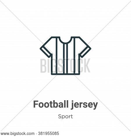 Football jersey icon isolated on white background from sport collection. Football jersey icon trendy