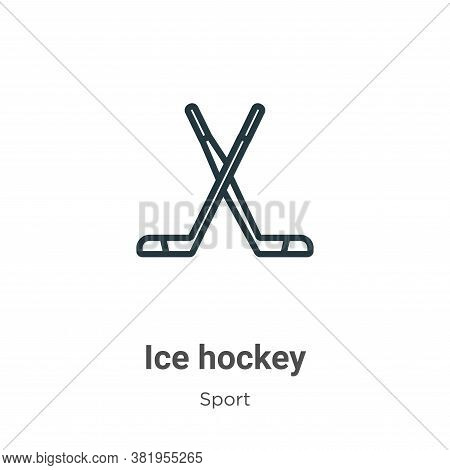 Ice hockey icon isolated on white background from sport collection. Ice hockey icon trendy and moder