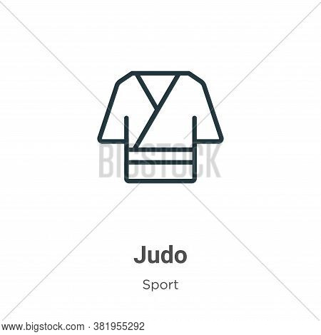 Judo icon isolated on white background from sport collection. Judo icon trendy and modern Judo symbo
