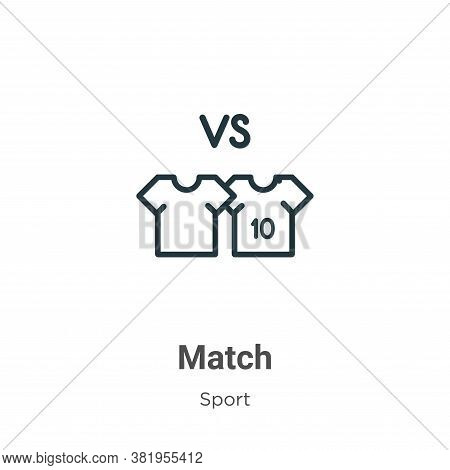 Match icon isolated on white background from sport collection. Match icon trendy and modern Match sy