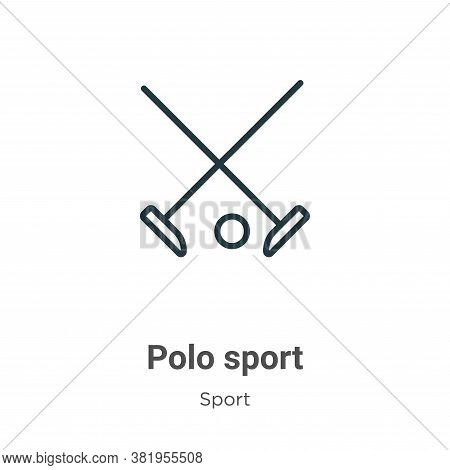 Polo sport icon isolated on white background from sport collection. Polo sport icon trendy and moder