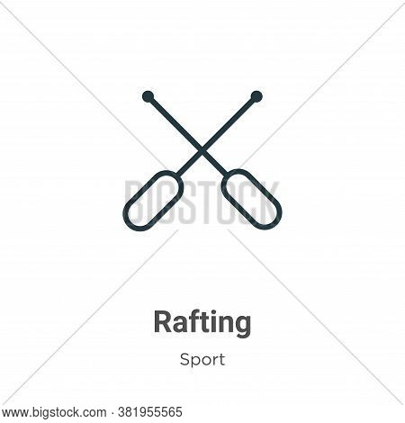 Rafting icon isolated on white background from sport collection. Rafting icon trendy and modern Raft