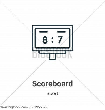 Scoreboard icon isolated on white background from sport collection. Scoreboard icon trendy and moder
