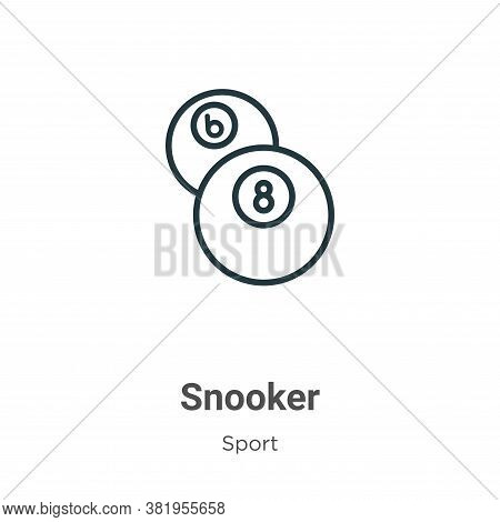 Snooker icon isolated on white background from sport collection. Snooker icon trendy and modern Snoo
