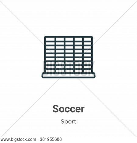 Soccer icon isolated on white background from sport collection. Soccer icon trendy and modern Soccer