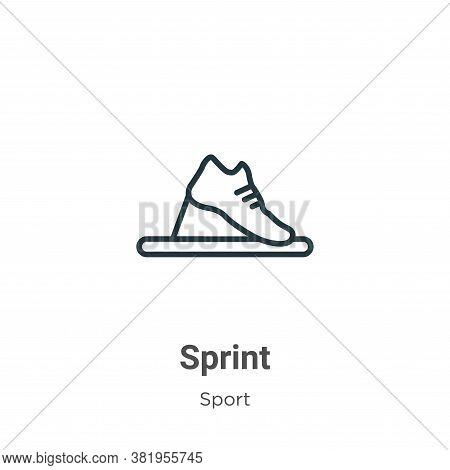 Sprint icon isolated on white background from sport collection. Sprint icon trendy and modern Sprint