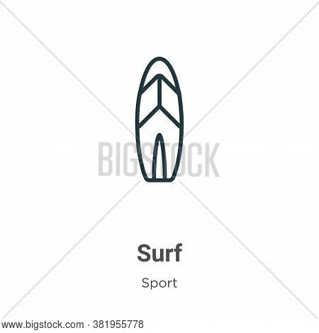 Surf icon isolated on white background from sport collection. Surf icon trendy and modern Surf symbo
