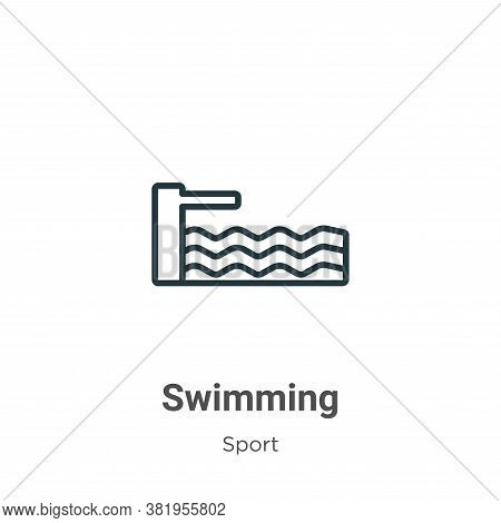 Swimming icon isolated on white background from sport collection. Swimming icon trendy and modern Sw