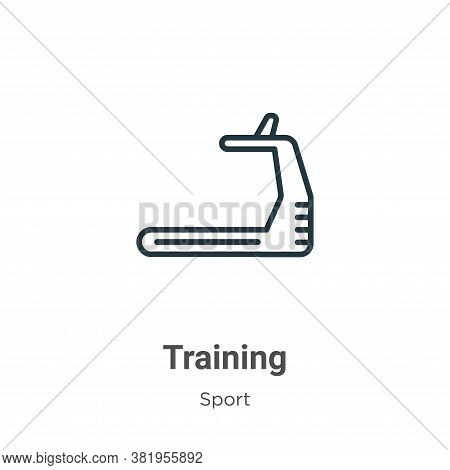 Training icon isolated on white background from sport collection. Training icon trendy and modern Tr
