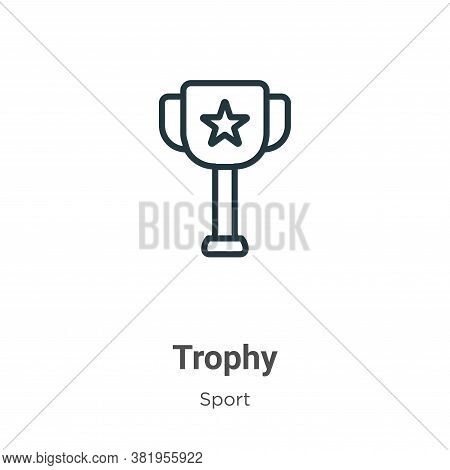 Trophy icon isolated on white background from sport collection. Trophy icon trendy and modern Trophy