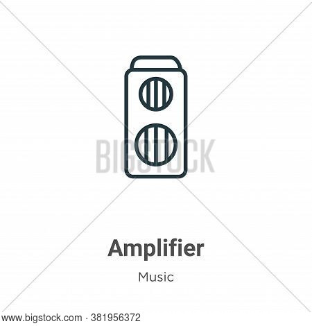 Amplifier icon isolated on white background from music collection. Amplifier icon trendy and modern