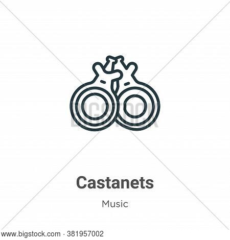 Castanets icon isolated on white background from music collection. Castanets icon trendy and modern