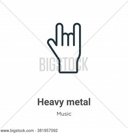 Heavy metal icon isolated on white background from music collection. Heavy metal icon trendy and mod