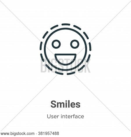 Smiles icon isolated on white background from user interface collection. Smiles icon trendy and mode