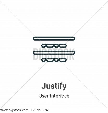 Justify Icon From User Interface Collection Isolated On White Background.