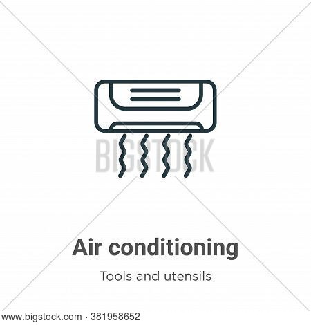 Air conditioning icon isolated on white background from tools and utensils collection. Air condition