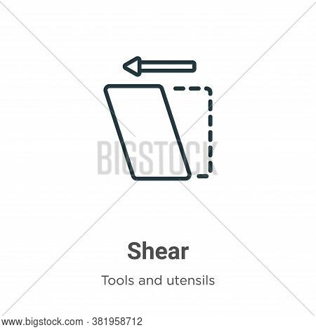 Shear icon isolated on white background from tools and utensils collection. Shear icon trendy and mo