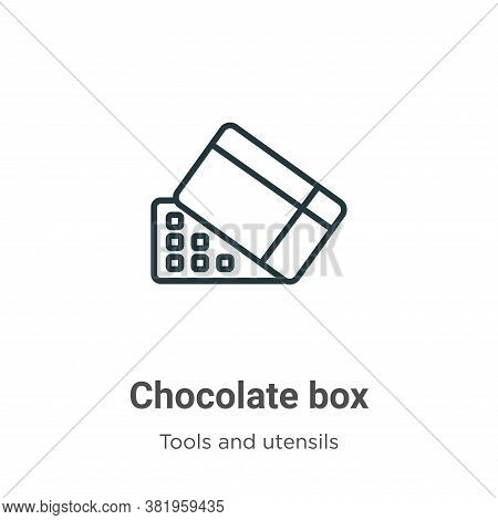 Chocolate box icon isolated on white background from tools and utensils collection. Chocolate box ic