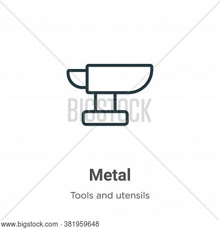 Metal icon isolated on white background from tools and utensils collection. Metal icon trendy and mo