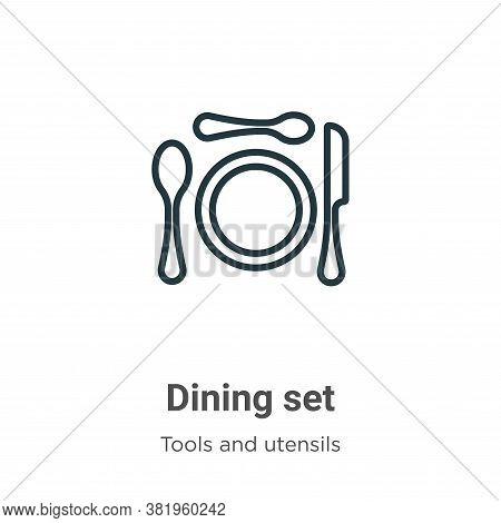 Dining set icon isolated on white background from tools and utensils collection. Dining set icon tre