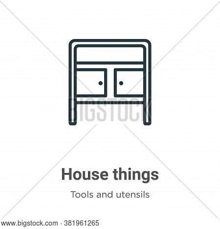 House things icon isolated on white background from tools and utensils collection. House things icon