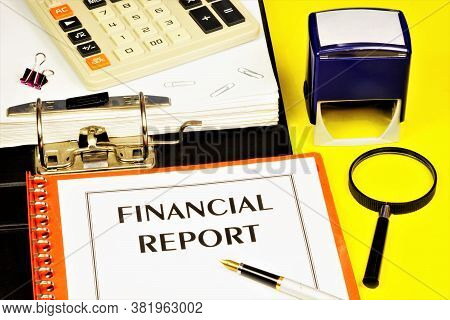 Financial Report - The Text Label For The Folder Office Of The Registrar. Research Of The Company's