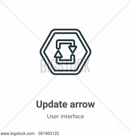 Update arrow icon isolated on white background from user interface collection. Update arrow icon tre
