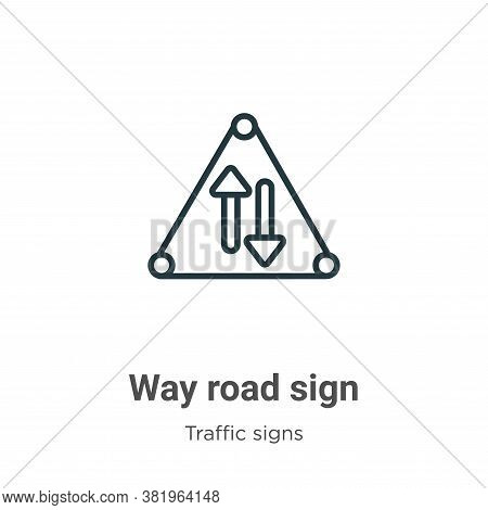Way road sign icon isolated on white background from traffic signs collection. Way road sign icon tr