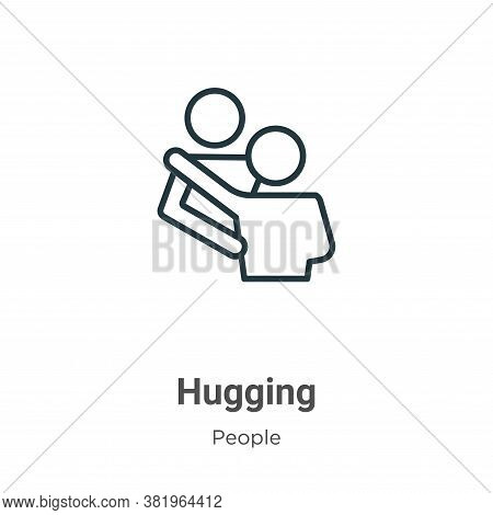 Hugging icon isolated on white background from people collection. Hugging icon trendy and modern Hug