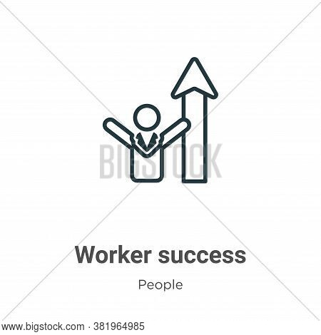 Worker success icon isolated on white background from people collection. Worker success icon trendy