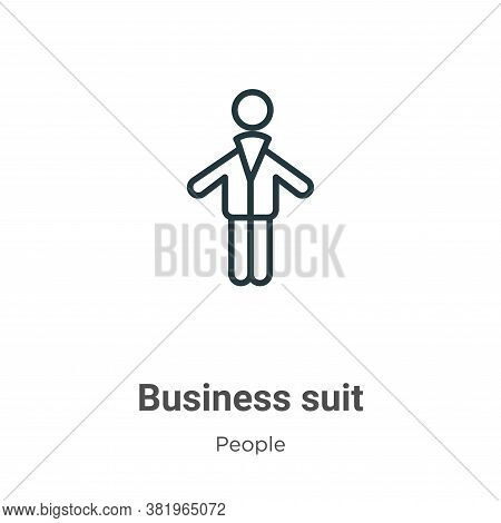 Business suit icon isolated on white background from people collection. Business suit icon trendy an