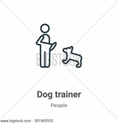 Dog trainer icon isolated on white background from people collection. Dog trainer icon trendy and mo