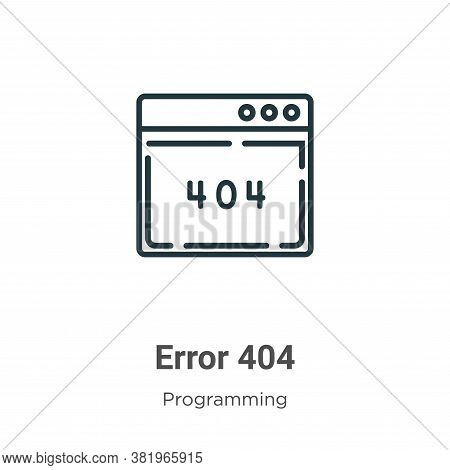 Error 404 icon isolated on white background from programming collection. Error 404 icon trendy and m