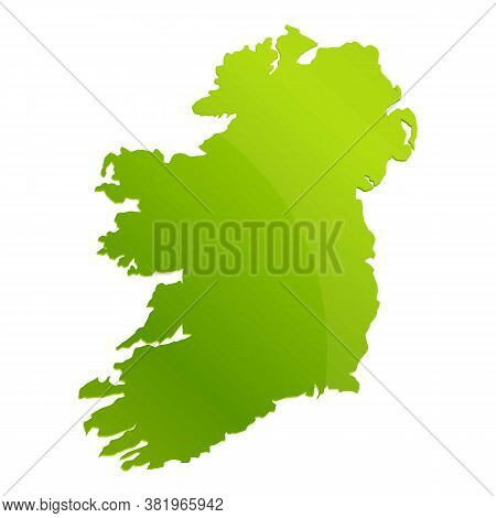 Ireland Landmark Teritory Icon. Cartoon Of Ireland Landmark Teritory Vector Icon For Web Design Isol