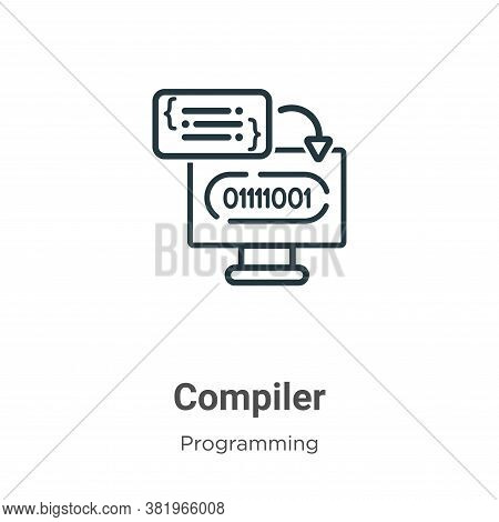 Compiler icon isolated on white background from programming collection. Compiler icon trendy and mod