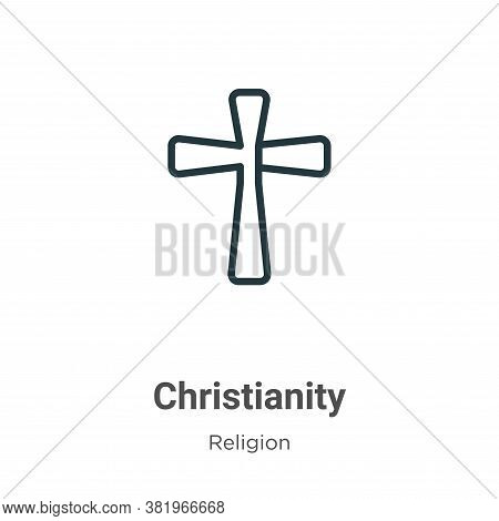 Christianity icon isolated on white background from religion collection. Christianity icon trendy an