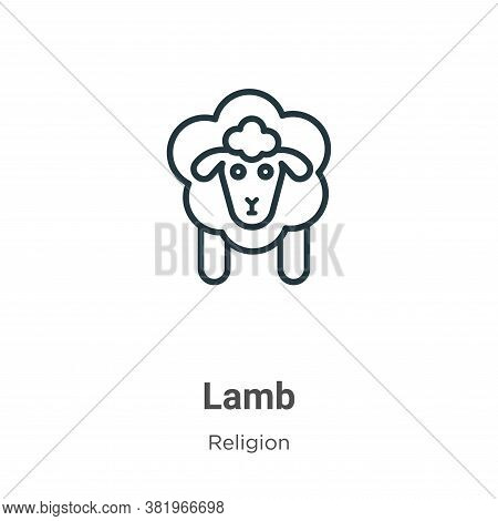 Lamb icon isolated on white background from religion collection. Lamb icon trendy and modern Lamb sy